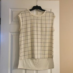 Loft Sleeveless Checkered Blouse